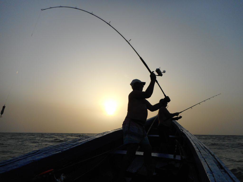 Conakry les Caorès retour de pêche de mars 2019
